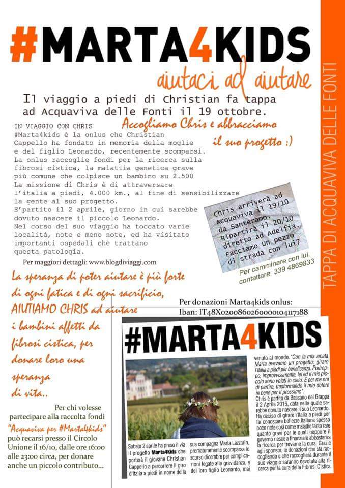 Marta4kids il viaggio a piedi di christian fa tappa ad for Planimetrie da 4000 piedi quadrati