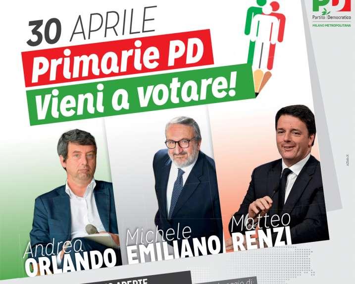 Oggi le primarie Pd: Renzi, Emiliano e Orlando hanno già votato