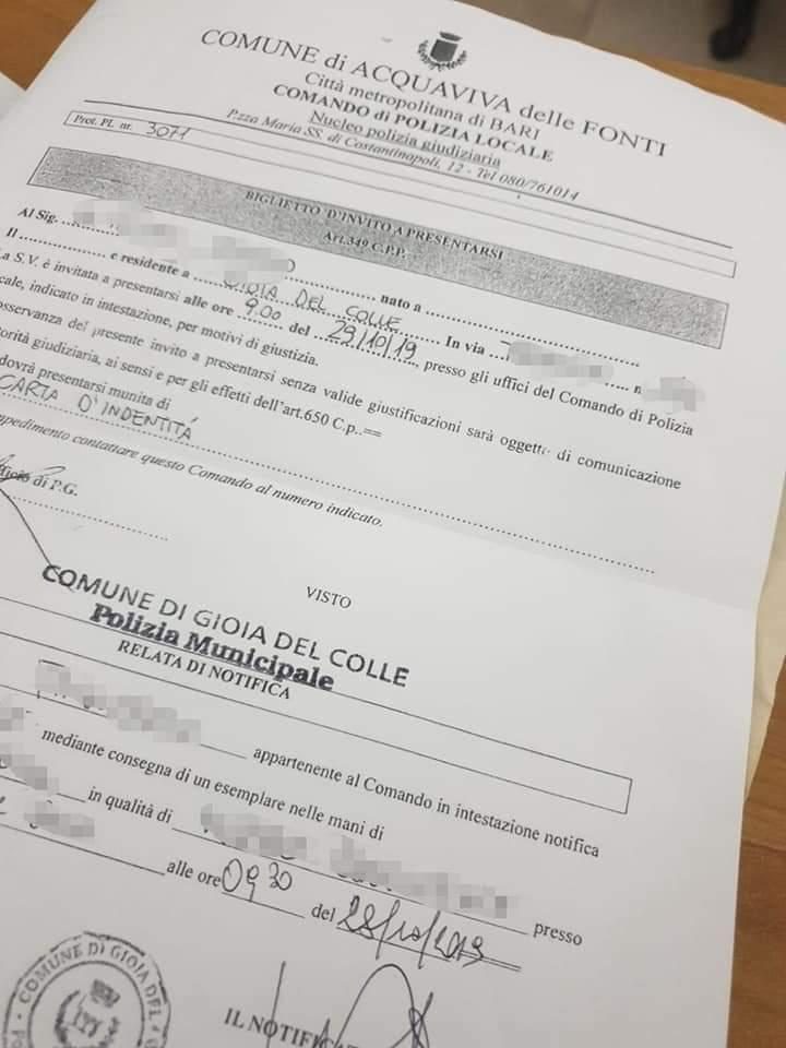 Invito Art 15 Del T U L P S O 650 C P Studio Legale Imperia Sanremo Avvocato Angelo Massaro